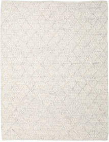 Rut - Ice Grey Melange Rug 250X350 Authentic Modern Handwoven Light Grey/Dark Beige Large (Wool, India)