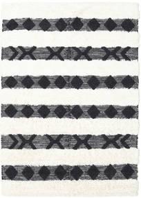 Shaula - Black/White Rug 160X230 Authentic  Modern Handwoven Dark Grey/Beige/White/Creme (Wool, India)