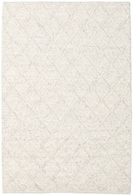 Rut - Ice Grey Melange Rug 160X230 Authentic  Modern Handwoven Light Grey/Beige/White/Creme (Wool, India)