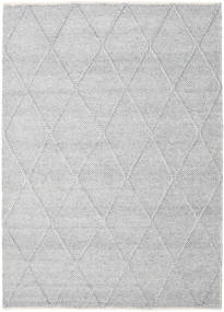 Svea - Silver Grey Rug 160X230 Authentic  Modern Handwoven Light Grey/White/Creme (Wool, India)