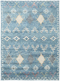 Zaurac - Blue Grey Rug 170X240 Authentic  Modern Handknotted Light Blue/Beige (Wool, India)