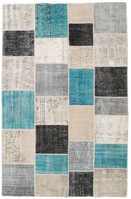 Patchwork Rug 196X304 Authentic Modern Handknotted Light Grey/Dark Grey (Wool, Turkey)
