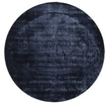 Brooklyn - Midnight Blue Rug Ø 200 Modern Round Dark Blue/Blue ( India)