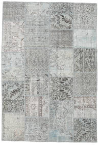 Patchwork Rug 158X233 Authentic  Modern Handknotted Light Grey/Turquoise Blue (Wool, Turkey)