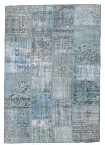 Patchwork Rug 139X201 Authentic  Modern Handknotted Light Blue/Light Grey/Blue (Wool, Turkey)