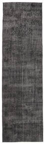 Colored Vintage Rug 91X312 Authentic  Modern Handknotted Hallway Runner  Brown/Black (Wool, Turkey)