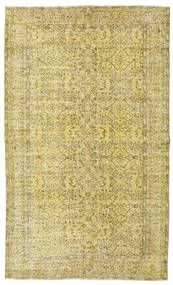 Colored Vintage Rug 158X262 Authentic  Modern Handknotted Yellow/Light Green/Olive Green (Wool, Turkey)