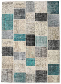 Patchwork Rug 252X355 Authentic  Modern Handknotted Light Grey Large (Wool, Turkey)