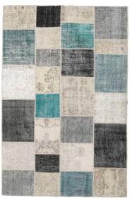 Patchwork Rug 198X302 Authentic  Modern Handknotted Light Grey/Dark Grey (Wool, Turkey)