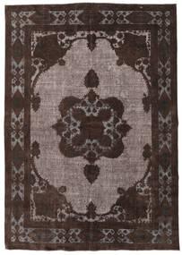Colored Vintage Relief Rug 212X302 Authentic Modern Handknotted Dark Brown (Wool, Turkey)