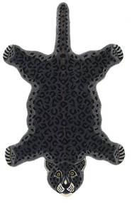 Leopard - Black Rug 100X160 Modern Dark Grey (Wool, India)