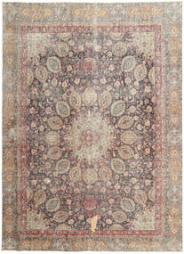 Colored Vintage Rug 262X358 Authentic Modern Handknotted Light Grey/Light Brown Large (Wool, Persia/Iran)
