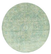 Maharani - Green Rug Ø 150 Modern Round Pastel Green ( Turkey)