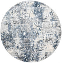 Triad - Grey/Blue Rug Ø 200 Modern Round Light Grey/White/Creme ( Turkey)