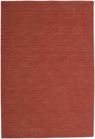 Kilim Loom - Rust Rug 200X300 Authentic  Modern Handwoven Dark Red (Wool, India)
