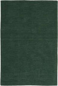 Kilim Loom - Forest Green Rug 200X300 Authentic  Modern Handwoven Dark Green (Wool, India)