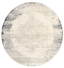 Alaska - Light Grey/Cream Rug Ø 200 Modern Round Beige/Light Grey ( Turkey)