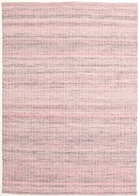 Alva - Pink/White Rug 140X200 Authentic  Modern Handwoven Light Pink/Light Purple (Wool, India)