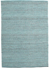Alva - Turquoise/White Rug 140X200 Authentic  Modern Handwoven Light Blue/Turquoise Blue (Wool, India)