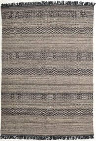 Hedda - Brown Rug 140X200 Authentic  Modern Handwoven Light Grey/Dark Grey (Wool, India)