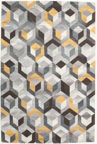 Cube - Grey/Gold Rug 200X300 Modern Light Grey/Dark Grey (Wool, India)