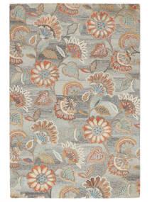 Rusty Flowers - Grey/Rust Rug 200X300 Modern Light Grey/Dark Beige (Wool, India)