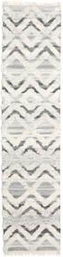 Lydia Rug 80X350 Authentic  Modern Handwoven Hallway Runner  Dark Beige/Beige/Light Grey (Wool, India)