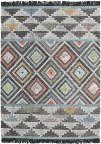 Iris Rug 140X200 Authentic  Modern Handwoven Dark Grey/Light Grey (Wool, India)