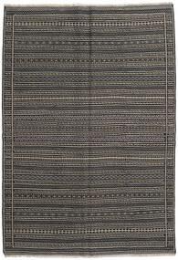 Kilim Rug 161X234 Authentic  Oriental Handwoven Black/Dark Grey (Wool, Persia/Iran)