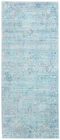 Maharani - Blue Rug 80X200 Modern Hallway Runner  Light Blue/Turquoise Blue ( Turkey)