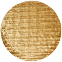 Crystal - Gold Rug Ø 250 Modern Round Light Brown/Dark Beige Large ( India)