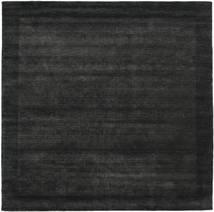 Handloom Frame - Black/Dark Grey Rug 300X300 Modern Square Black Large (Wool, India)