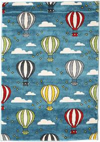 Balloons Rug 140X200 Modern Dark Turquoise  /Dark Blue ( Turkey)