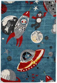 Astronauts Rug 160X230 Modern Dark Blue ( Turkey)