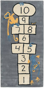 Hopscotch - Grey Rug 100X210 Modern Blue/Dark Grey (Wool, India)
