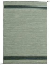 Ernst - Green/Dark _Green Rug 140X200 Authentic  Modern Handwoven Light Green (Wool, India)