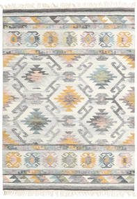 Mirza Rug 140X200 Authentic  Modern Handwoven Light Grey/Beige (Wool, India)
