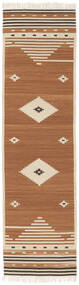 Tribal - Mustard Rug 80X300 Authentic  Modern Handwoven Hallway Runner  Brown/Light Brown/Beige (Wool, India)