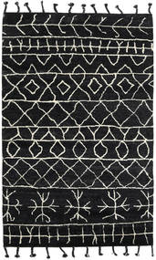 Moss Berber - Black Rug 180X275 Authentic  Modern Handknotted Black (Wool, India)