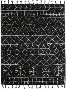 Moss Berber - Black Rug 240X300 Authentic Modern Handknotted Black/Dark Grey (Wool, India)
