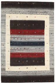 Gabbeh Loribaft Rug 136X206 Authentic  Modern Handknotted Dark Brown/Light Grey (Wool, India)