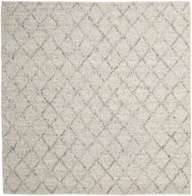 Rut - Silver/Grey Melange Rug 250X250 Authentic  Modern Handwoven Square Light Grey/Dark Beige Large (Wool, India)