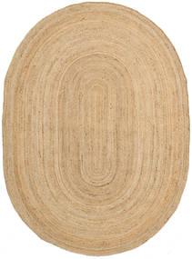 Outdoor Rug Frida Oval - Natural Rug 160X230 Authentic  Modern Handwoven Dark Beige/Beige (Jute Rug India)