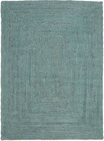 Frida Color - Turquoise Rug 160X230 Authentic Modern Handwoven Turquoise Blue/Turquoise Blue ( India)