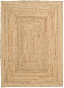 Frida - Natural Rug 160X230 Authentic Modern Handwoven Dark Beige/Beige ( India)
