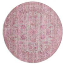 Maharani - Grey/Pink Rug Ø 200 Modern Round Light Pink ( Turkey)