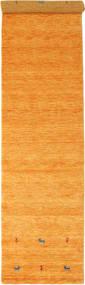 Gabbeh Loom Two Lines - Orange Rug 80X350 Modern Hallway Runner  Yellow/Light Brown (Wool, India)