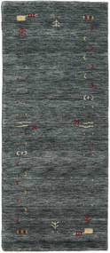 Gabbeh Loom Frame - Dark Grey/Green Rug 80X200 Modern Hallway Runner  Dark Grey/Dark Green (Wool, India)