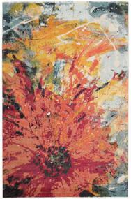 Flora Rug 200X300 Modern Crimson Red/Beige ( Turkey)