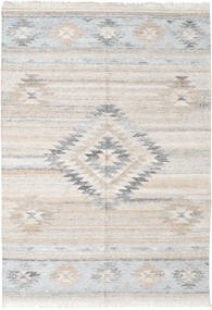 Tulum Rug 140X200 Authentic  Modern Handwoven Light Grey ( India)